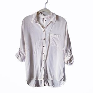 Willow & Root Button Down Shirt with Lace-Up Back